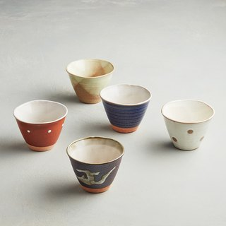 There is a kind of creativity - Japan Meinong - Ancient kiln glazed pottery cup set (5 pieces)