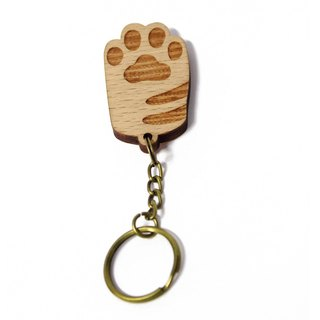[White palm - lines] key ring / palm healing cat / cat / key ring / gift / customized