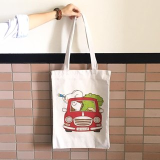 "Before a better future, ""Art of the fish"" departure illustration canvas bag canvas cloth can shoulder --D0005"