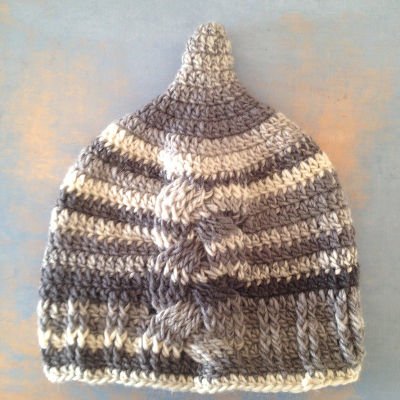 Podargus strigoides LL bird wild tree wood  australia pixie kobito gnome beanie natural nature unique stripe grey gray mountain hiking picnic