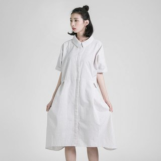 Village home shirt dress _8SF120_ khaki
