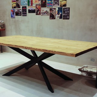 Industrial style _ styling table legs solid wood conference / work / dining table**provide customized service**