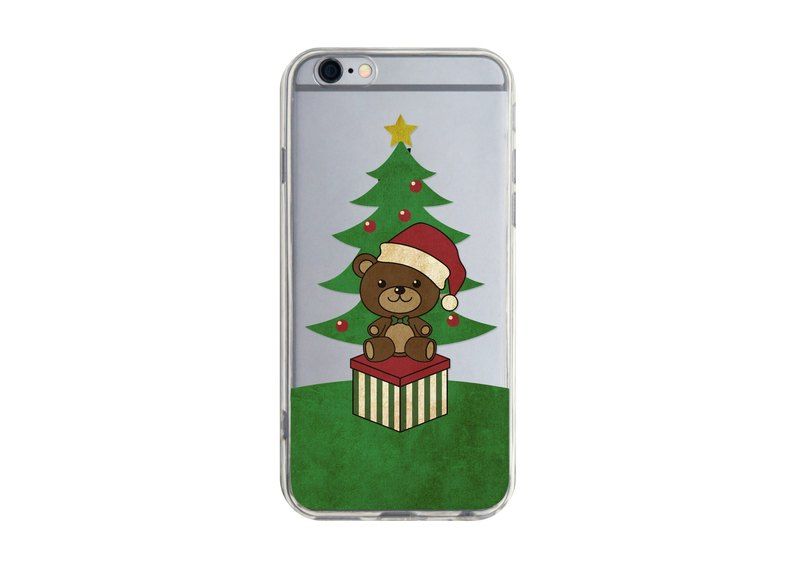 Xmas Bear - iPhone X 8 7 6s Plus 5s Samsung S7 S8 S9 Case