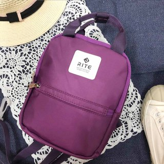 [RITE] Le Tour Series - Dual-use Mini Backpack - Rainbow [Purple]