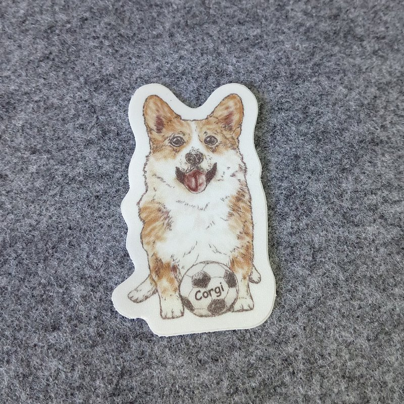 Sketch Series ~ Corgi-Waterproof Sticker (1 in)