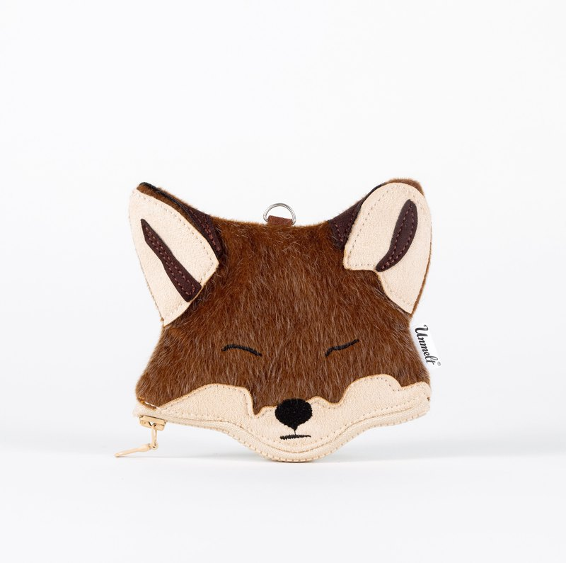 Mr.Red Fox Purse / small functional animal pouch  / card holder&key keeper fox