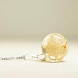 New Year Champagne Yellow Hydrangea Crystal Ball Clavicle Necklace