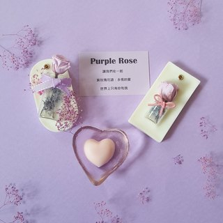 Purple Rose let us eternal roses / aromatherapy brick / home decoration / gifts / dried flowers
