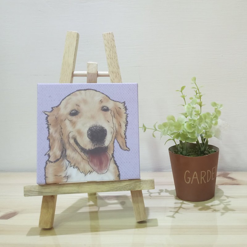 Small Picture Frame-Lightweight Frameless Picture-Golden Retriever