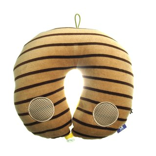 Voyage Travel neck cushion - Brown & White