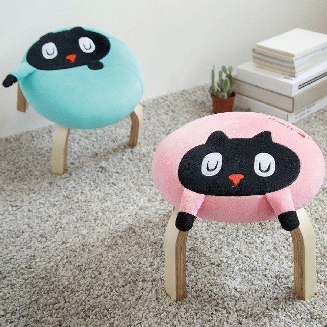Kuroro palm small chair Cat (pink)