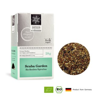 Organic Algae Green Tea Dr. Snorkeling Garden | Green Tea Clear Aroma | Express Tea Bags 20 Into