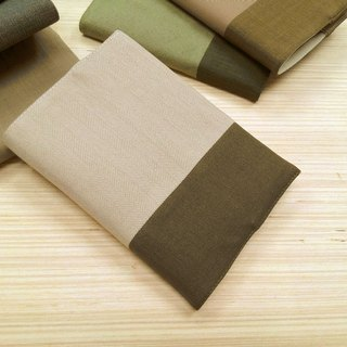 Junior A6 cloth book ~ light khaki clothes (only a commodity) B04-012