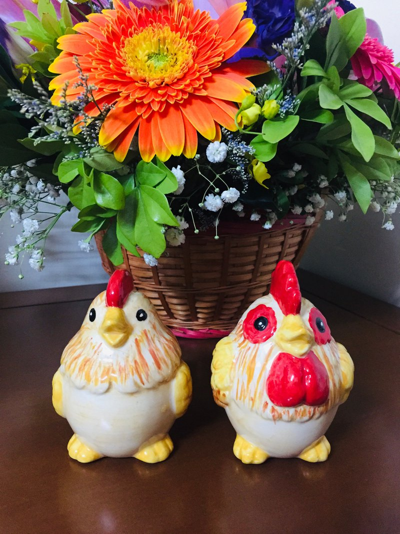 Wedding small objects ceramic painted cute lead the way chicken home furnishings