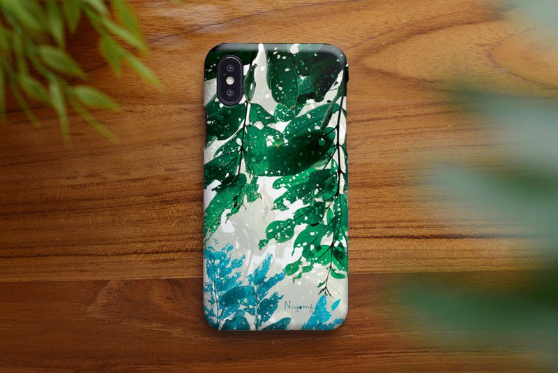 39-3 natural green leafs iphone case for iphone 6,7,8, iphone xs, iphone xs max