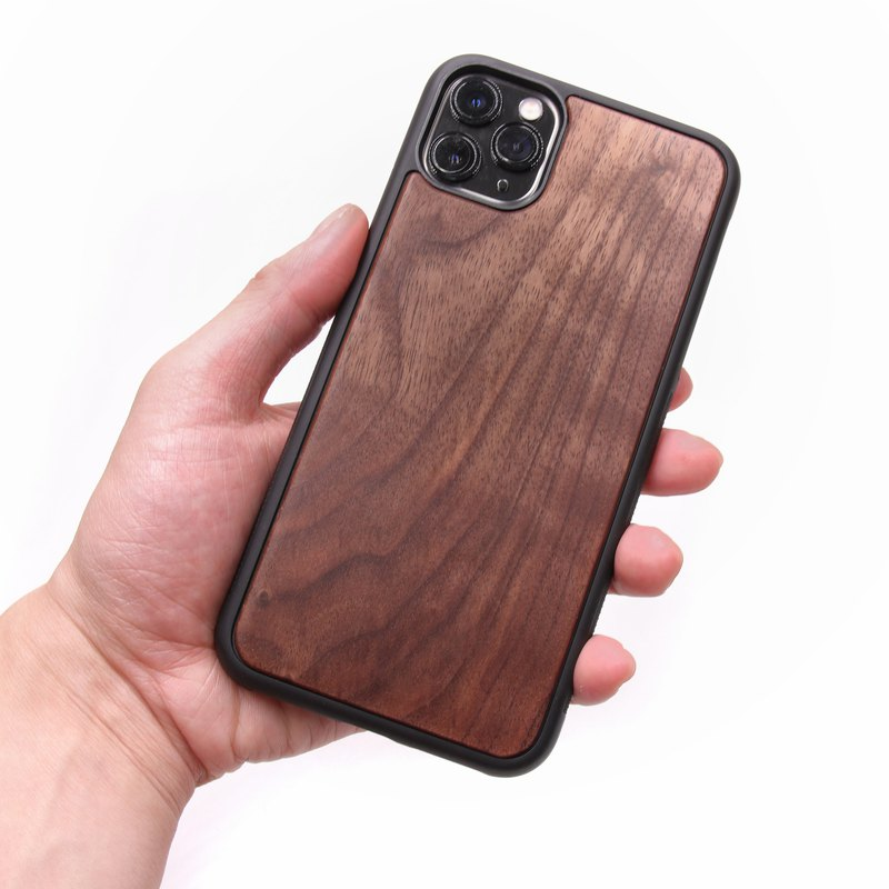 IPHONE 11 Pro Max Solid Wood Phone Case - Walnut