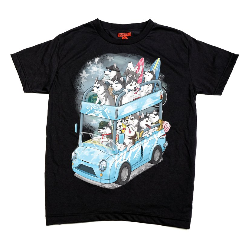 Husky family take a bus  Chapter One T-shirt
