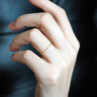 9K gold chain ring VISHI is not original, real gold, exquisite, simple, stacked, joint, female gift