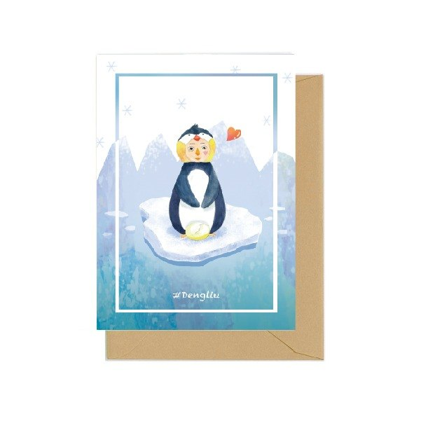 Dengliu Universal Greeting Card Mother 's Day Father' s Day Card Penguin happy father 's day