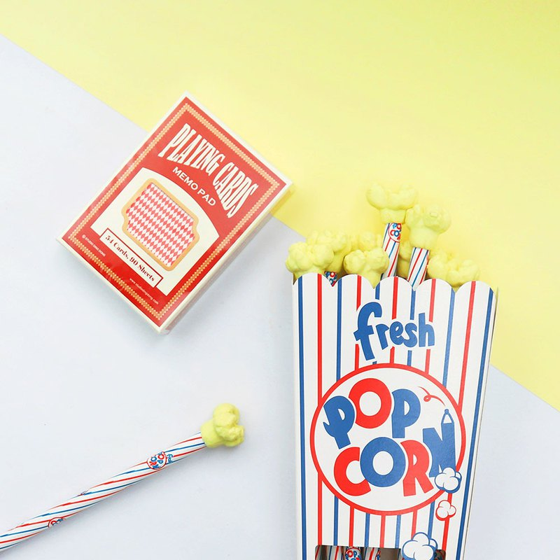 [叮咚 2019 blessing bag] Wanted playing card partner - popcorn & POKER playing card note paper