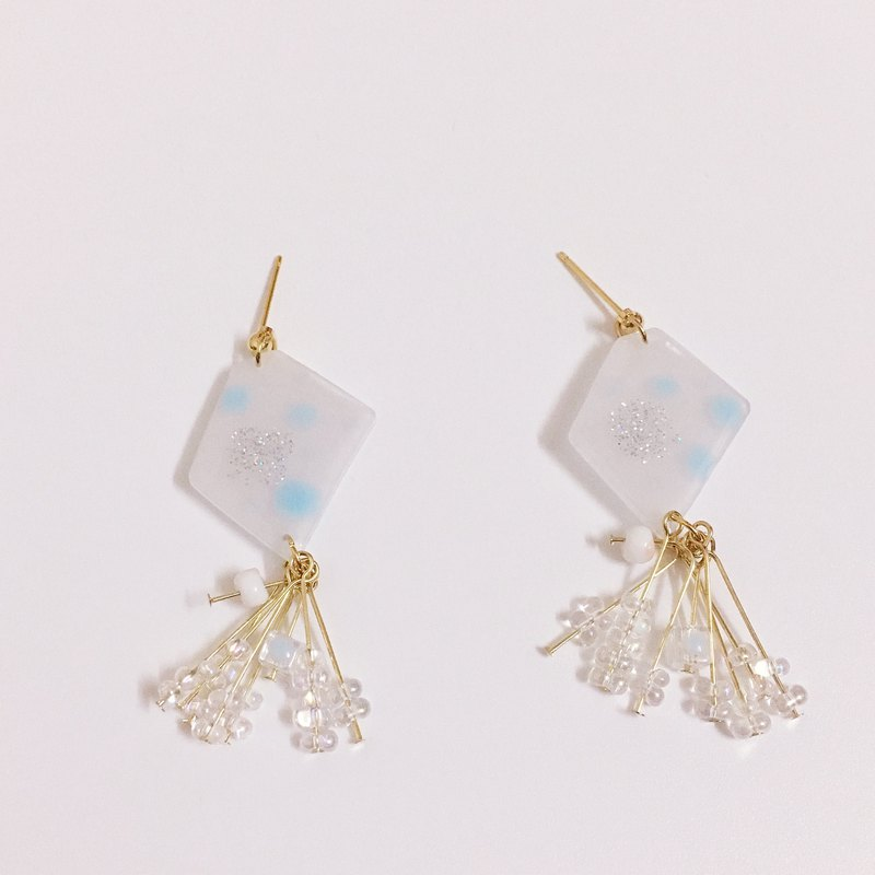 A pair of sparkling Earrings