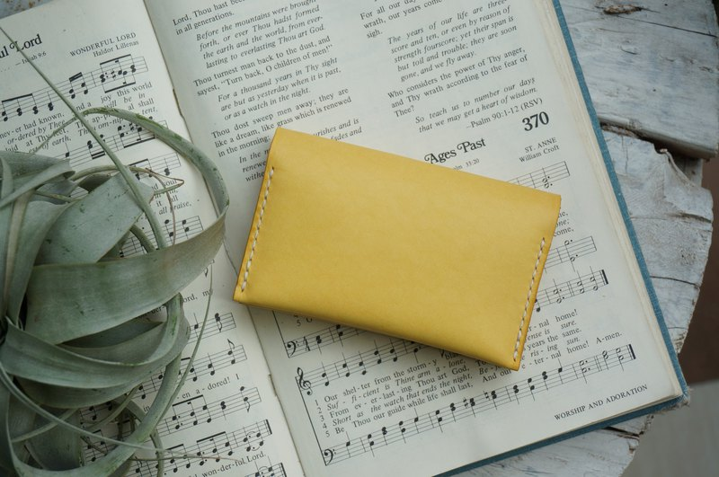 Yellow double-layer card holder business card holder