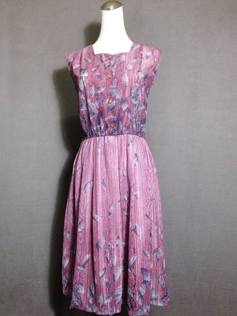 When vintage [vintage dress / romantic lace flowers sleeveless dress Long antique] abroad back VINTAGE