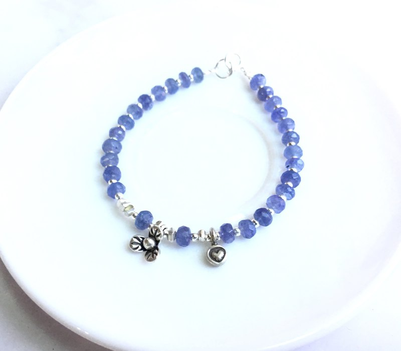 Ops Silver Tanzanite Elegant Jewelry Gemstone Lucky blue bracelet
