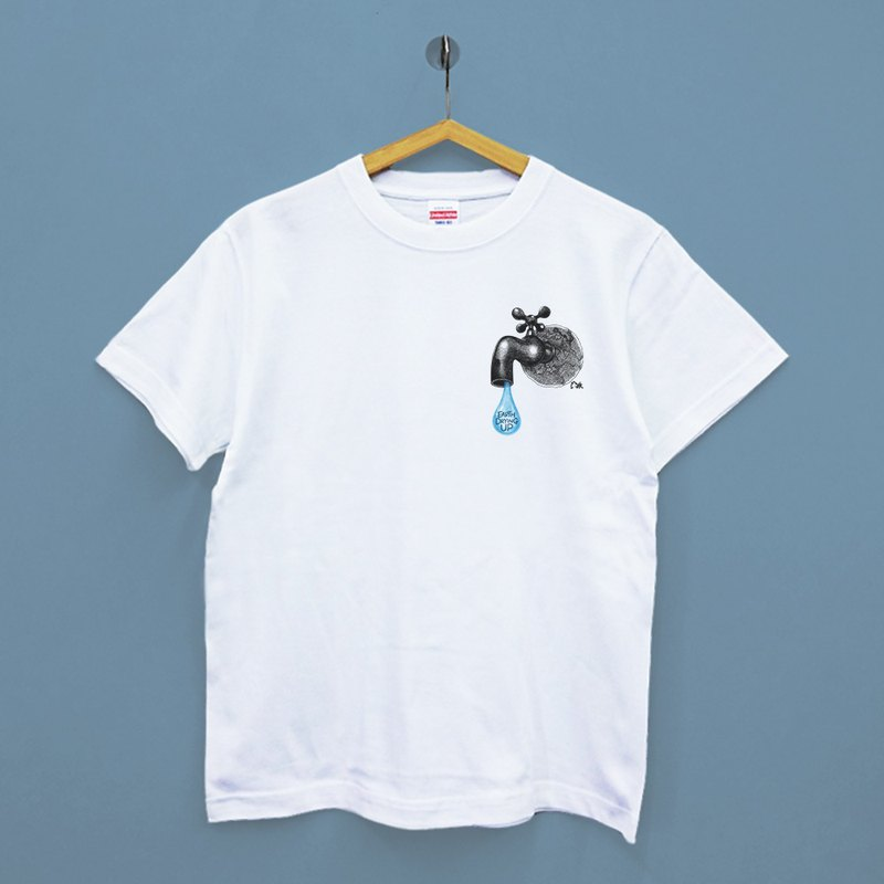 [Illustrator / milk 丼 MILK DONG] Earth Drying Up Japan United Athle cotton soft neutral T-shirt