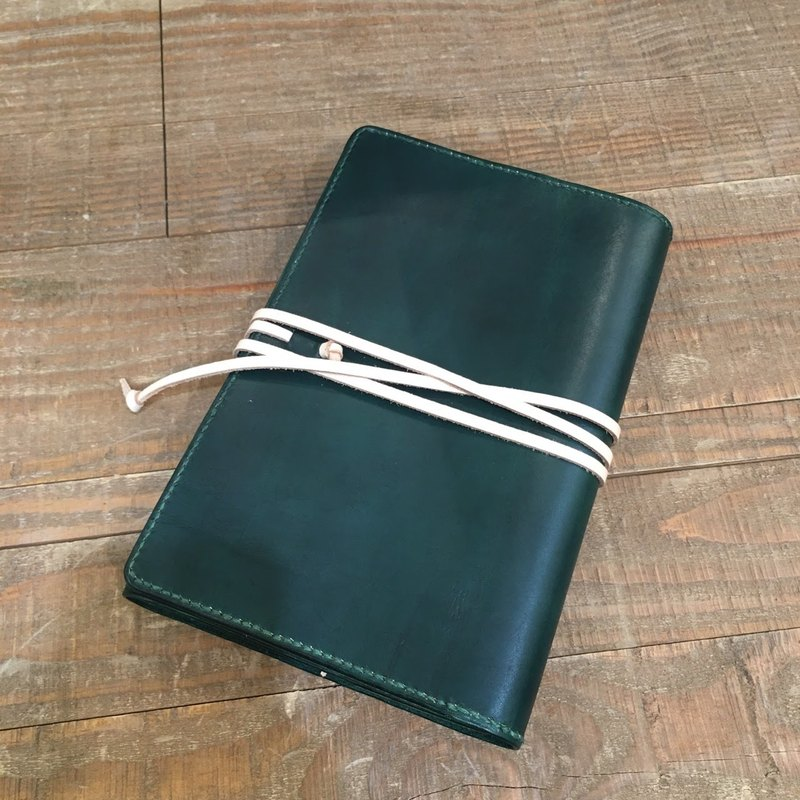 Handmade hand-dyed leather 6 hole loose-leaf notebook (free printing, embroidered words)