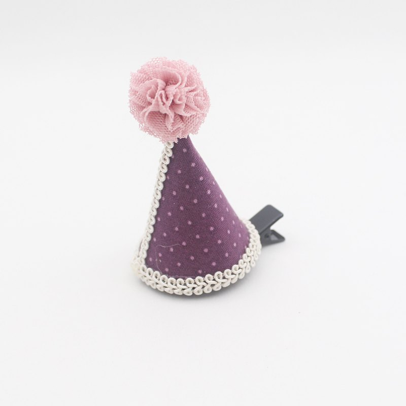 Baby dot cone hat hairclip,happybirthday,party,party hat,cone hat,