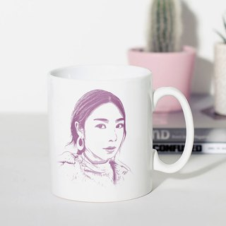 Customized portraits of classic flat mouth mugs (simple style)