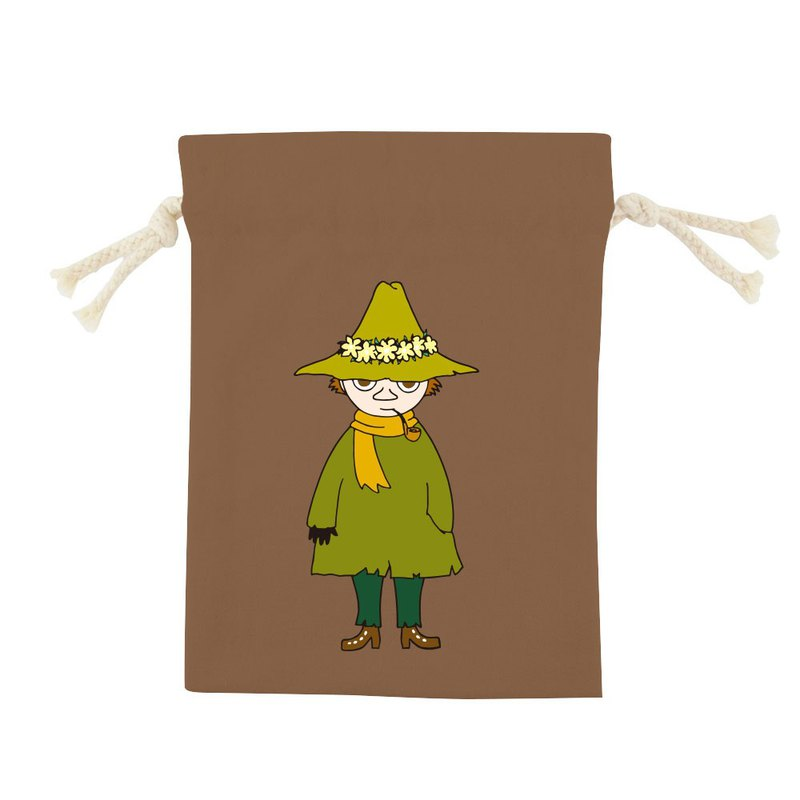 Moomin 噜噜米授权- Color Drawstring Pocket -【 阿金(咖啡)】,CB6AE03