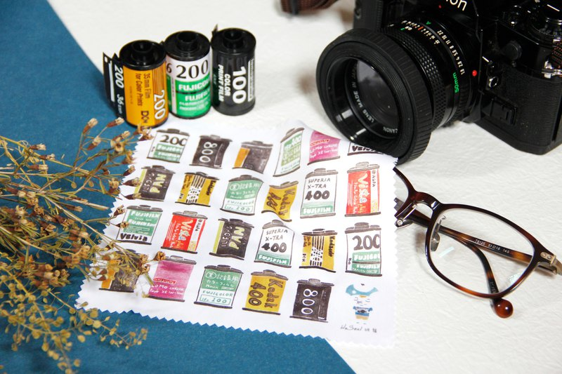 Watercolor glasses cloth / wipes / universal cloth - film film photography