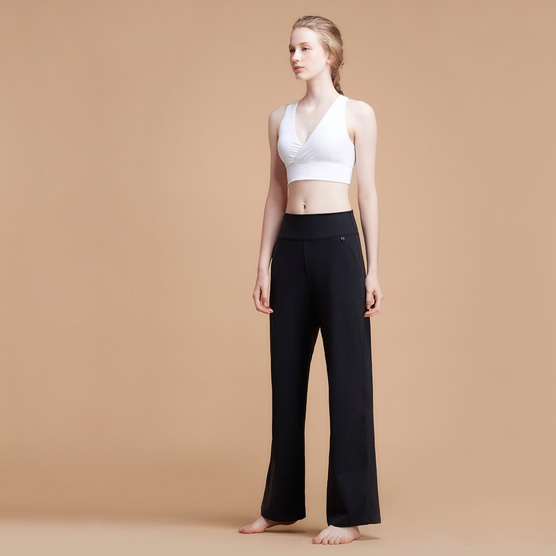 [MACACA] Muse Slim Yoga Pocket Wide Pants - APE7271 Black