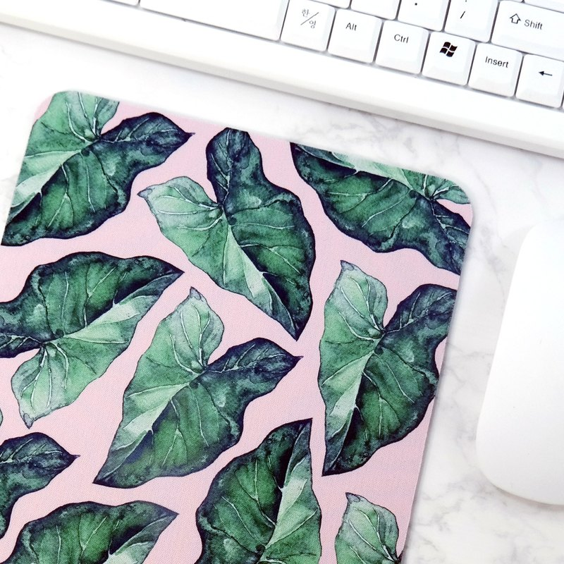 Green Pattern Mouse Pad Pink Desk Mat Desk Decorations Office Inspiration