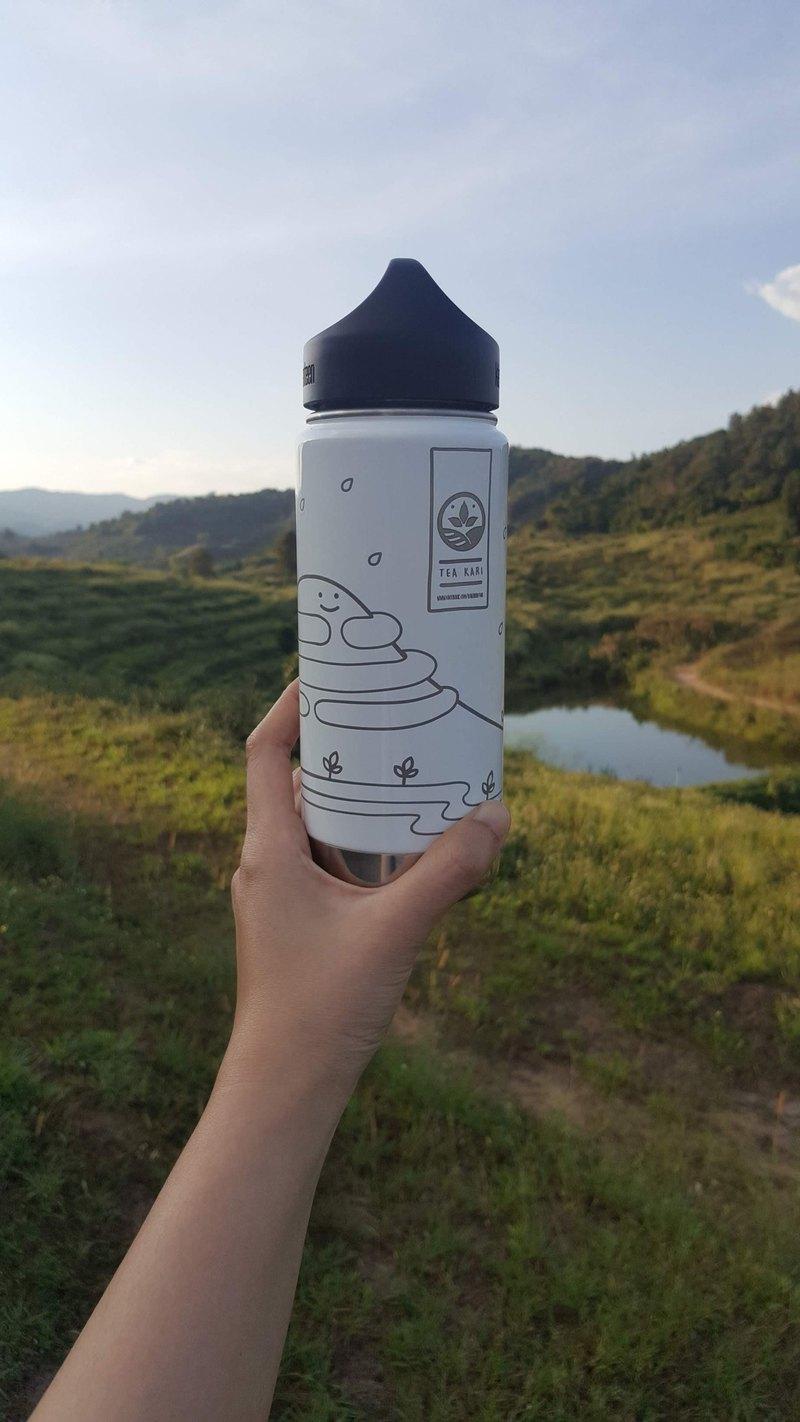 冷熱儲存瓶,Klean Kanteen 品牌,激光圖案,微笑山,茶卡里