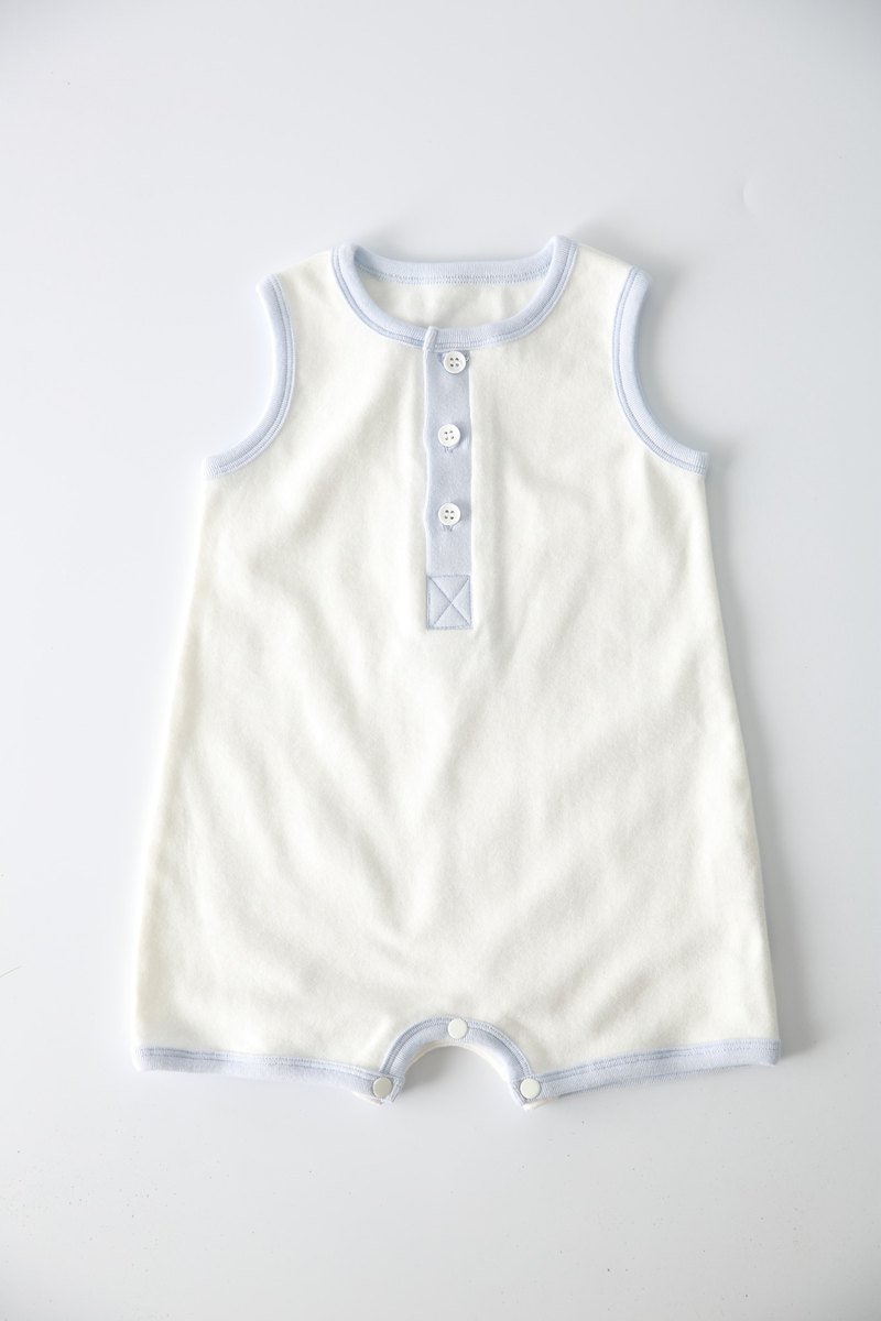 Organic cotton. Fenghua Department of the body of the boy package fart clothing - white