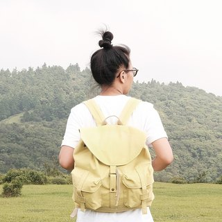 Journey canvas backpack / dawn yellow