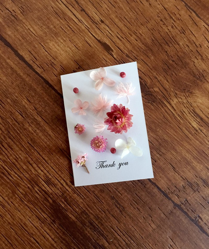 | Sakura Blowing Snow | Dry flower card. Dear to you. Can be written. Folding card