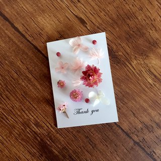 | Sakura Blowing Snow | Dry Flower Card. Give my dear to you. Can write. Folding card