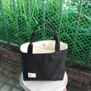Mysterious black tote running around (small, S-size)