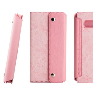 CASE SHOP Samsung Galaxy Note8 magnetic clutch side up side up leather - pink (4716779658293)