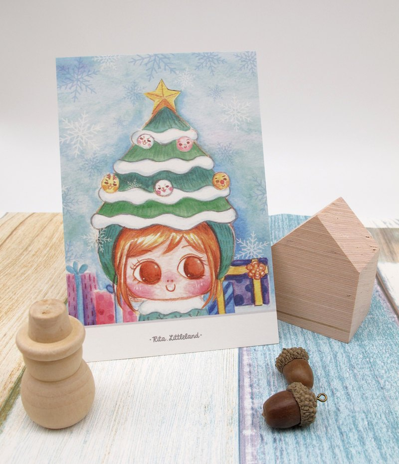 Christmas • Little Tree People Postcard