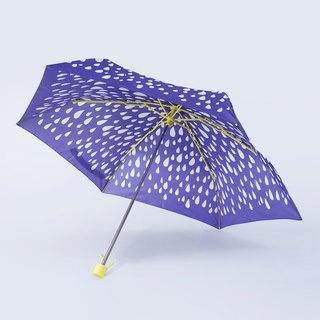 ALL PLASTIC FRAME Ultra Lightweight Umbrella - Raindrop