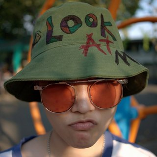 Originally Hand Painted Bucket Hat : Look At Me