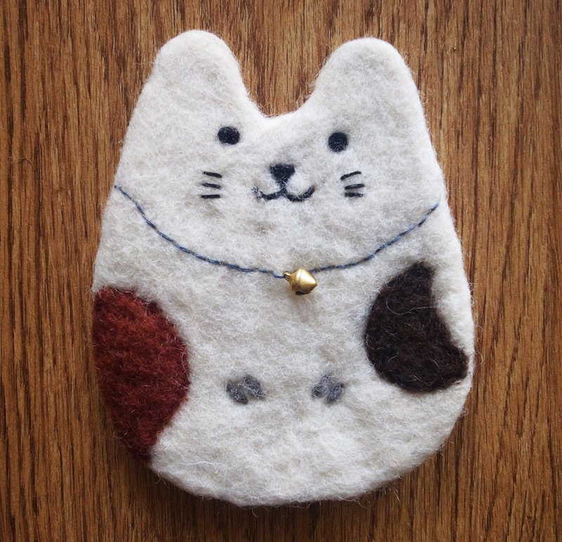 Cup coasters, Felt coasters Animal Cat