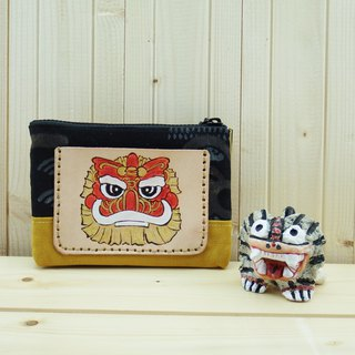 Multi-layer leather ancient cloth coin purse mascot