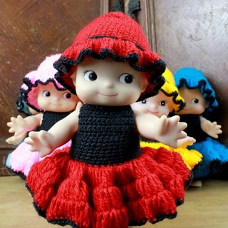 Small turtle Ge Ge - cute weave dress small Q than - red