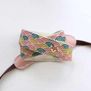 Cute Shiba Inu Camera Strap - Powder Ripple